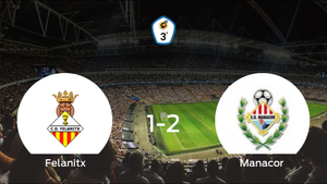 El Manacor se queda con los tres puntos después de derrotar 1-2 al Felanitx