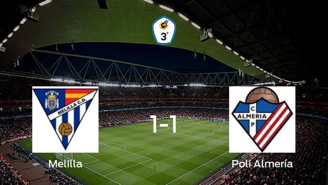 El Poli Almería logra un empate frente al Melilla CD (1-1)