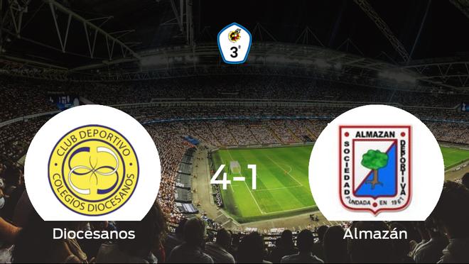 Goleada del CD Diocesanos frente al Almazán (4-1)