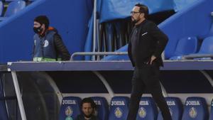 Bordalás vive uno de los momentos más complicados desde que es entrenador del Getafe