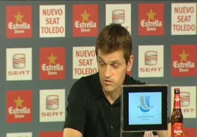 Tito Vilanova, en reuda de prensa en el Santiago Bernabéu