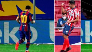 Messi, celebración dedicada a su amigo Luis Suárez