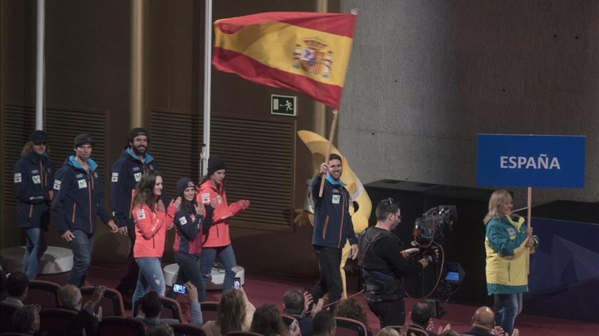 El equipo español en los Mundiales de snowboard de Sierra Nevada