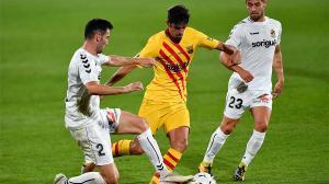 Los primeros detalles de calidad de Trincao con el Barça