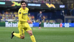 Un recital detrás de otro. Vean el golazo de Gerard Moreno ante el Dinamo Zagreb para meter al Villarreal en semis