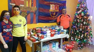 La PB Castellana fue una de las peñas que participó en el Día Anual Solidario