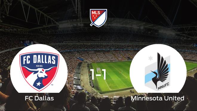 El FC Dallas y el Minnesota United finalizan su encuentro liguero con un empate (1-1)