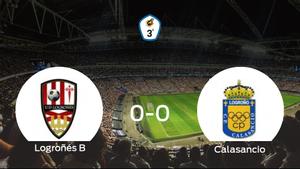 El Logroñés B y el Calasancio se reparten los puntos en un partido sin goles (0-0)