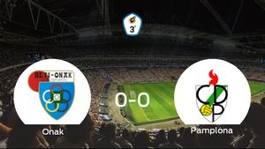 El Beti Onak y el Pamplona firman un empate sin goles (0-0)