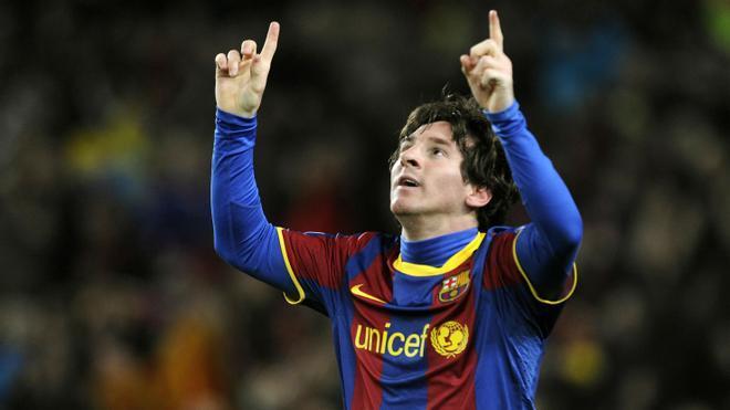 Los cuatro goles de Messi al Arsenal en 2010