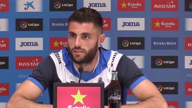 David López quiere que Gerard Moreno continúe en el Espanyol