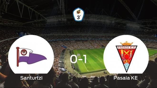 El Pasaia KE consigue la victoria ante el Santurtzi en el segundo tiempo (0-1)