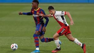 Ilaix Moriba debutó en la Liga con el Alavés el 13 de diciembre