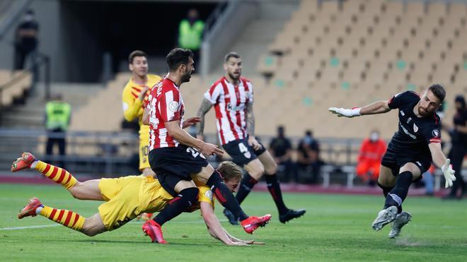 Frenkie de Jong anotó con este remate el 2-0 para el Barça en la final de Copa