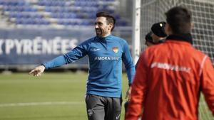 Eder Sarabia está con muchísimas ganas de debutar en el banquillo del Andorra