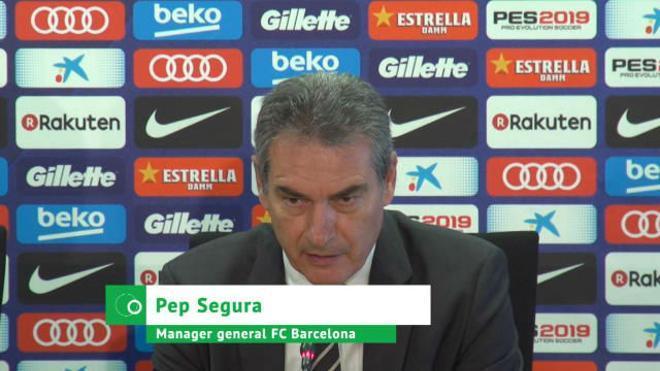 Pep Segura responde sobre Messi y La Masía