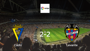 Levante drop points against Cádiz 2-2 at Estadio Ramon de Carranza
