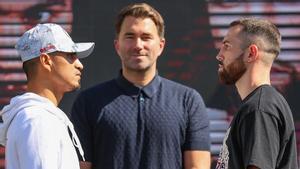 Mikey García y Sandor Martín, en el cara a cara previo a la pelea