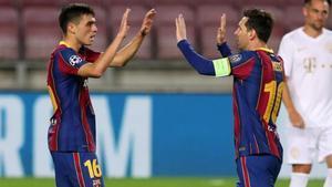 Pedri y Messi, juntos en el once