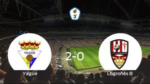 El Yagüe consigue la victoria frente al Logroñés B en el segundo tiempo (2-0)