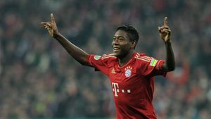 Alaba celebrando un gol