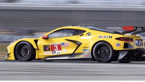 El Corvette de Antonio García, en Daytona