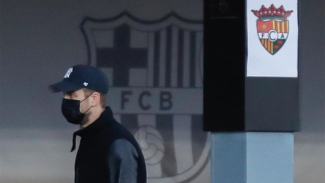 Piqué, en el Johan Cruyff para el partido entre el filial del Barça y el Andorra