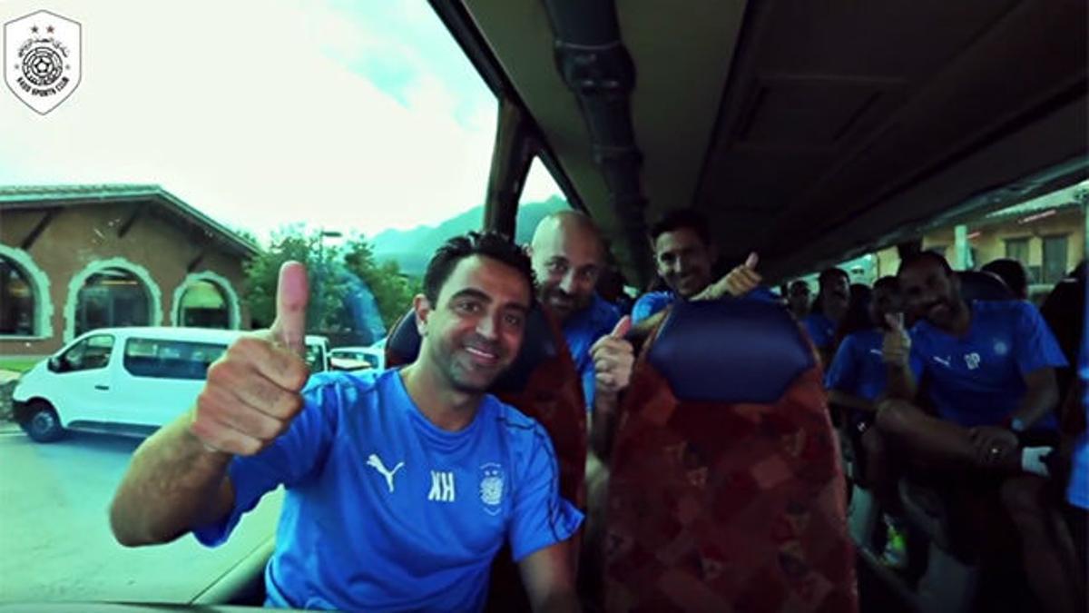 Xavi dirigió su primer entrenamiento como entrenador del Al-Saad