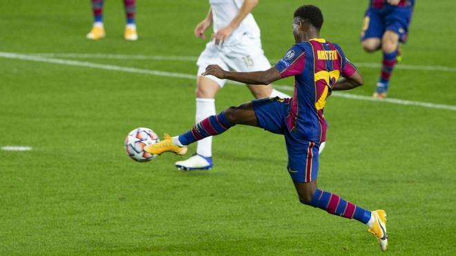 Champions, 17 años y Man of the match: el gol de Ansu que lo corona en Europa