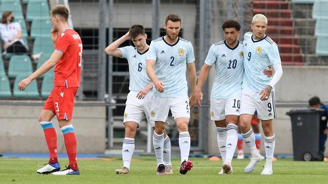 Escocia, en un partido preparatorio para la Eurocopa