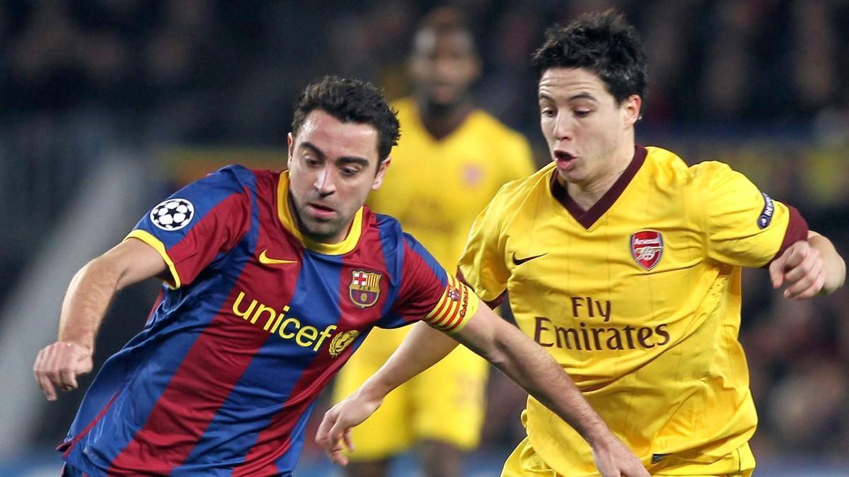 Samir Nasri, en un partido ante el Barça
