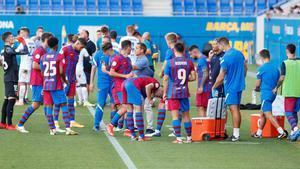 En el último partido en casa, el Barça B se dejó dos puntos ante la UE Costa Brava