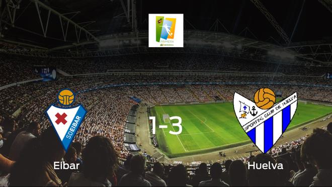 El Sporting de Huelva Femenino se impone al Eibar Femenino y consigue los tres puntos (1-3)
