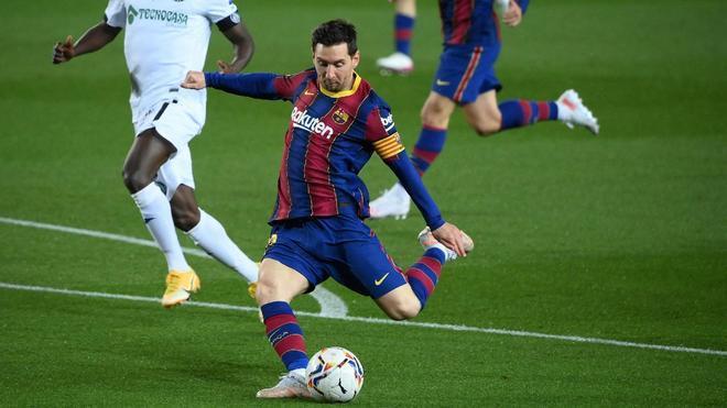 Messi ha abierto la lata contra el Getafe en el Camp Nou