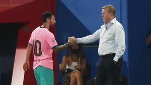 Messi y Koeman