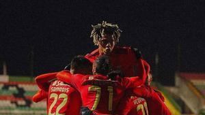 Todibo jugó sus primeros minutos con el Benfica