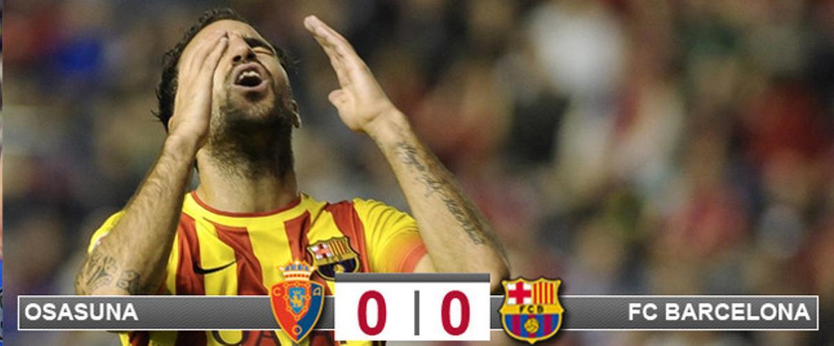 El Barça se quedó sin puntería en El Sadar y Osasuna truncó su racha de triunfos