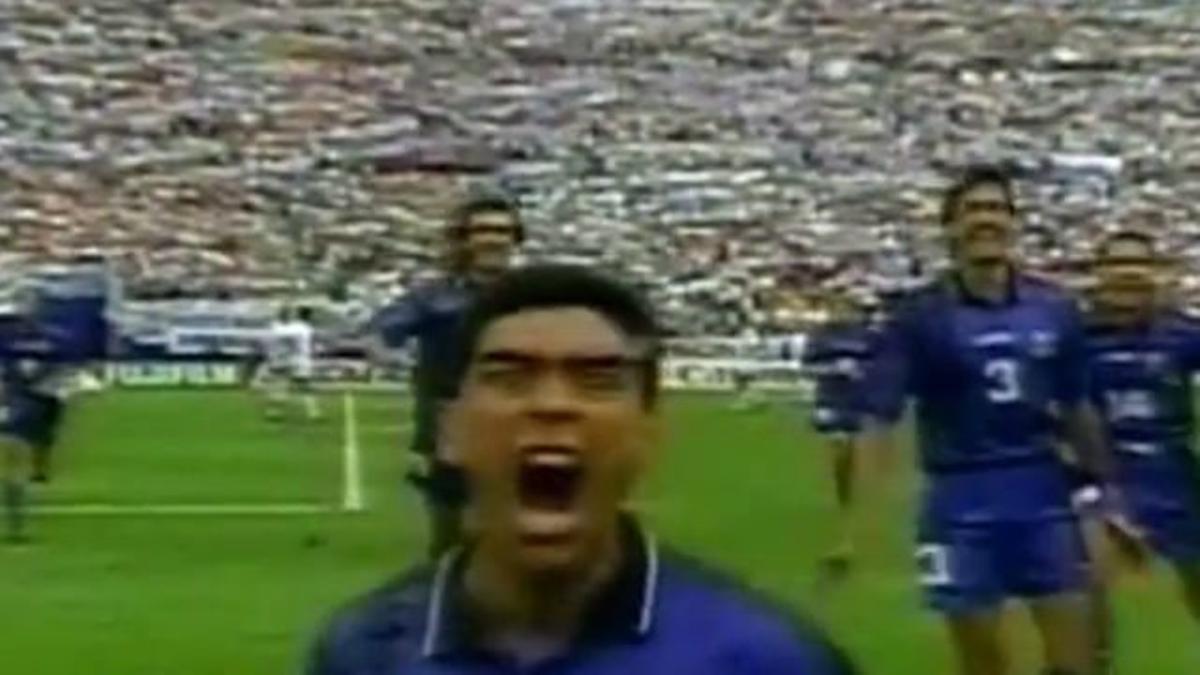 La celebración de Maradona por la cual se le empezó a investigar por dopaje