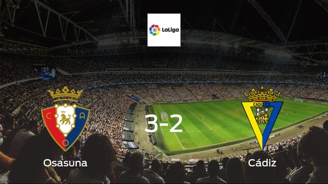 Visitors fail to take points as Osasuna beat Cádiz 3-2