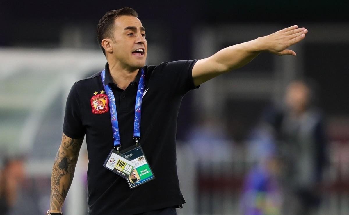 Cannavaro, exentrenador del Guangzhou chino