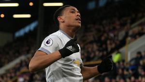 Martial, el mejor del United en 2018