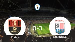 El Cantolagua suma tres puntos tras pasar por encima del Cortes (0-3)