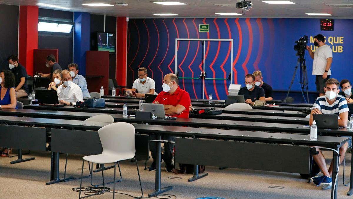 Los periodistas volvieron a la Ciudad Deportiva para asistir a una rueda de prensa