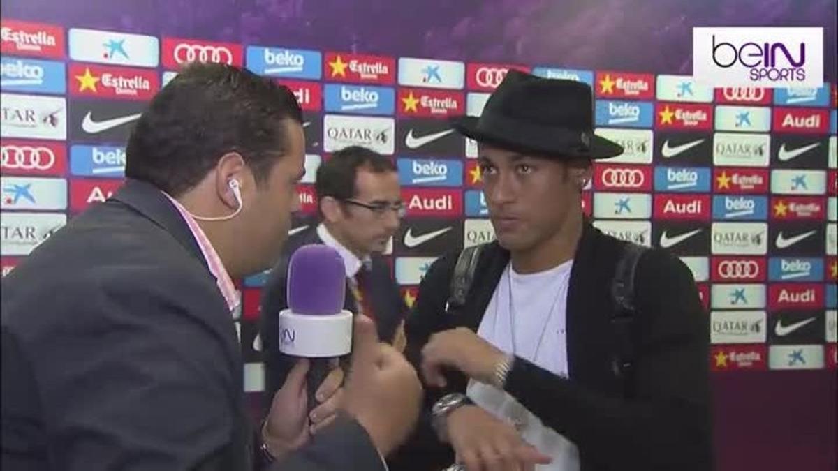 Neymar atendió a beIN Sports al terminar el partido