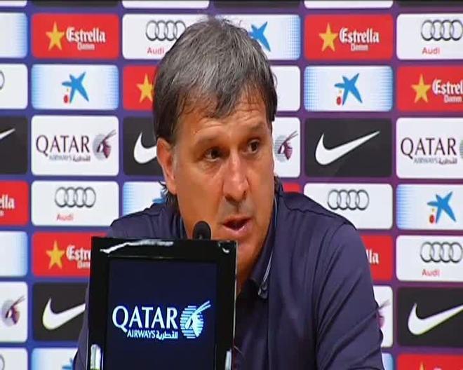 Tata Martino: La temporada es larga y es importante que Messi cuide su físico