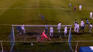 El gol de Alberto Rubio que supuso el empate del Alcoyano ante el Madrid