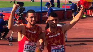 Asier Martínez y Quique Llopis, oro y bronce en 110 metros vallas