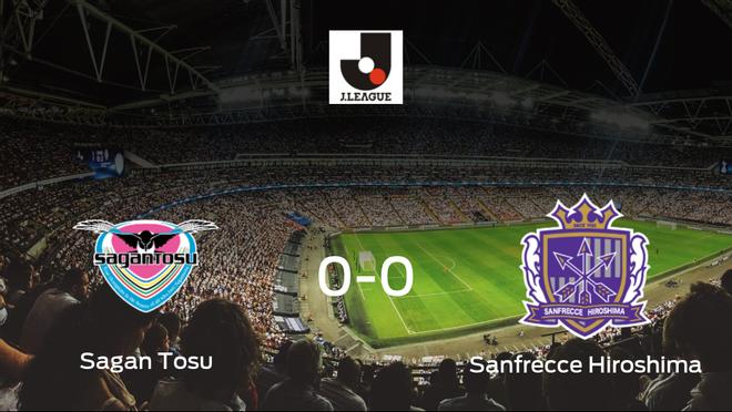 El Sagan Tosu y el Sanfrecce Hiroshima se reparten los puntos en un partido sin goles (0-0)