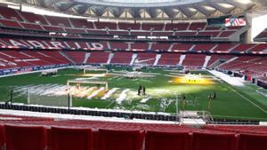El Wanda Metropolitano, listo para el Atleti-Sevilla