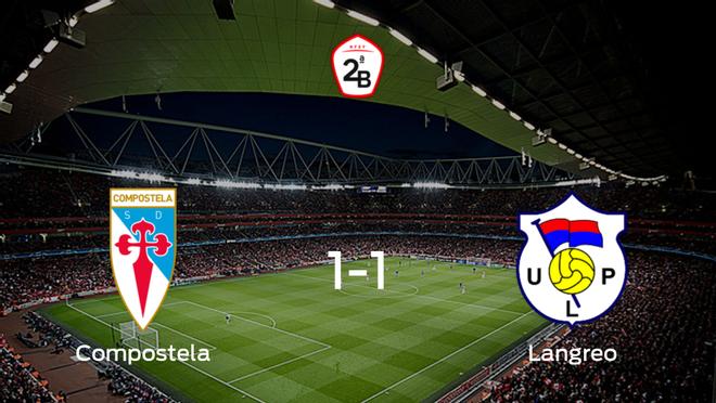 El Compostela y el Langreo empatan a uno en el Estadio Municipal Vero Boquete de San Lázaro